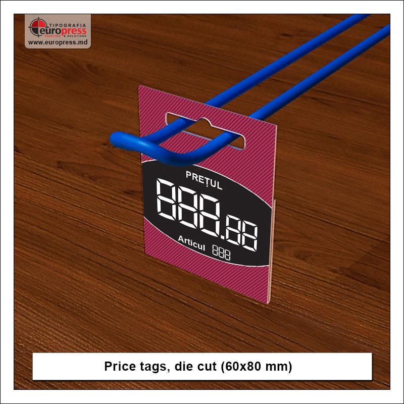 Price tags die cut - Variety of Price tags - EuroPress Printing House