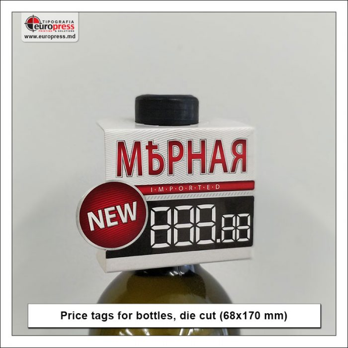 Price tags for bottles die cut - Variety of Price tags - EuroPress Printing House