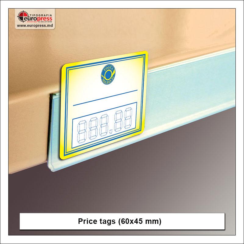 Price tags style 1 - Variety of Price tags - EuroPress Printing House