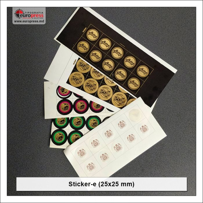 Sticker 25x25 mm - Varietate Stickere - Tipografia Europress