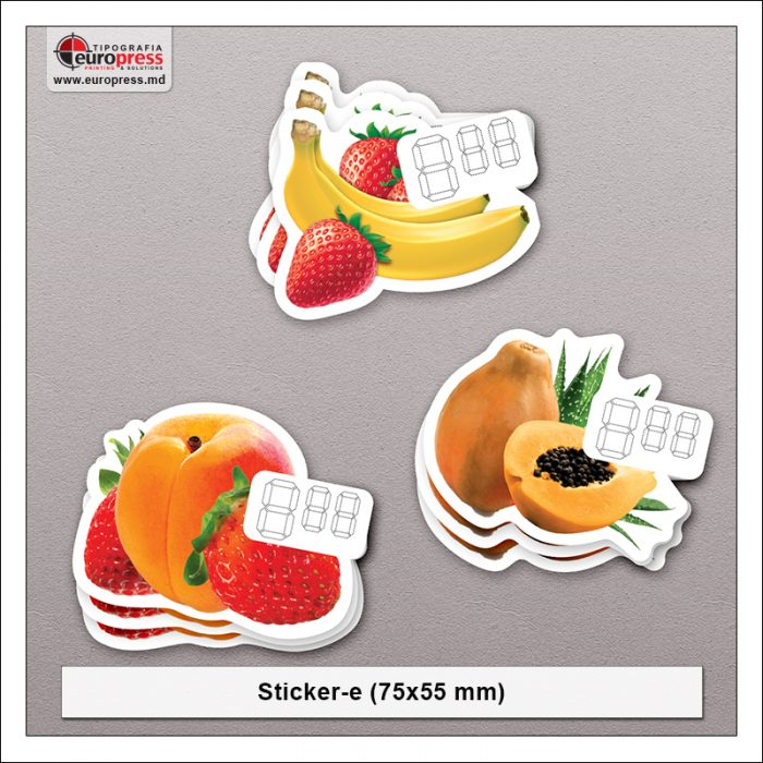 Sticker 75x55 mm - Varietate Stickere - Tipografia Europress