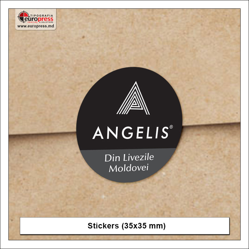 Stickers 35x35 mm - Variety of Stickers - Europress Printing House