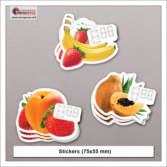 Stickers 75x55 mm - Variety of Stickers - Europress Printing House
