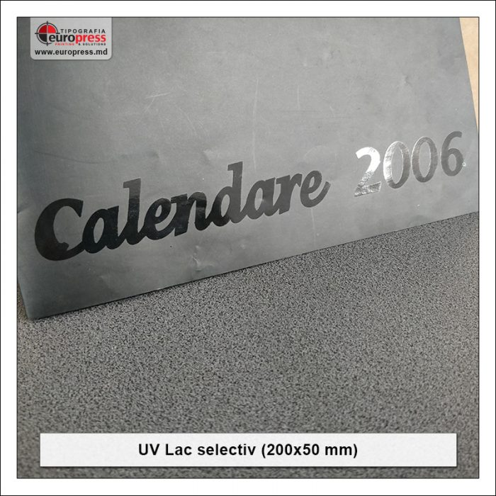 UV Lac selectiv 200x50 mm - Varietate UV lac selectiv - Tipografia Europress