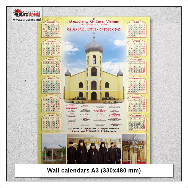 Wall calendars A3 - Variety of calendars - Europress Printing House