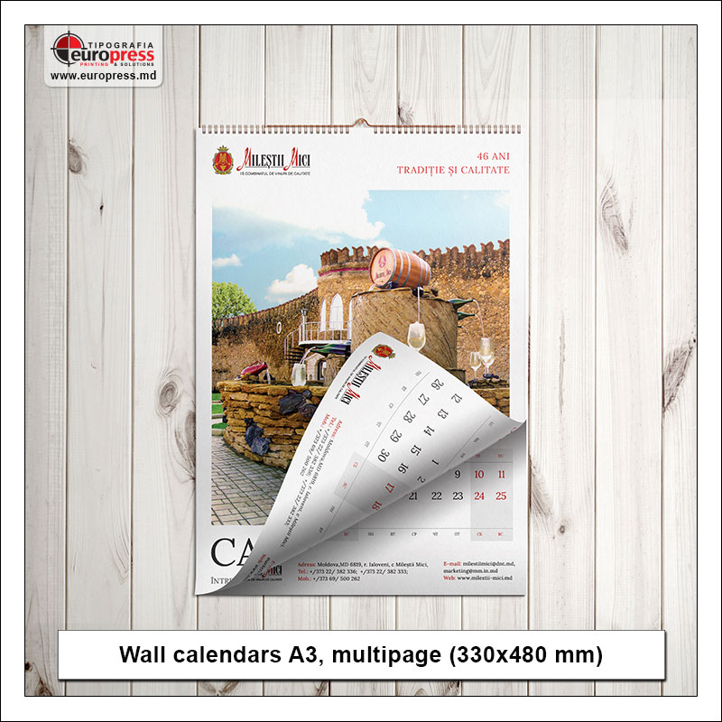 Wall calendars A3 multipage - Variety of calendars - Europress Printing House