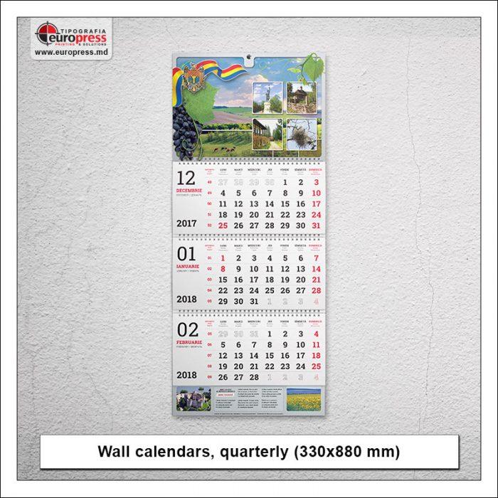 Wall calendars quarterly - Variety of calendars - Europress Printing House