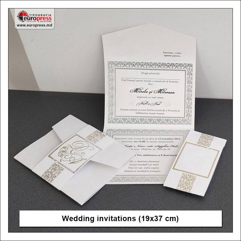 Wedding invitation style 3 - variety of wedding invitations - Europress Printing House