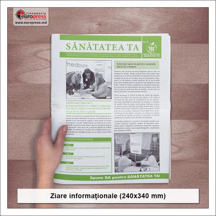Ziare informationale 240x340 mm - Varietate ziare - Tipografia Europress