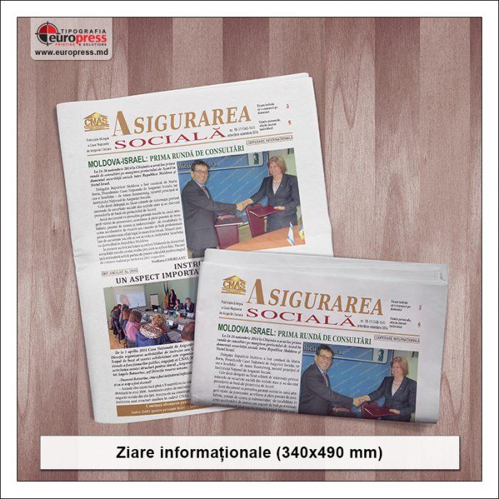 Ziare informationale 340x490 mm - Varietate ziare - Tipografia Europress