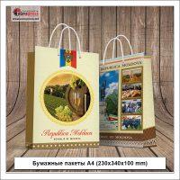 Бумажные пакеты А4 230x340x100 mm - разнообразие бумажных пакетов - Типография Europress