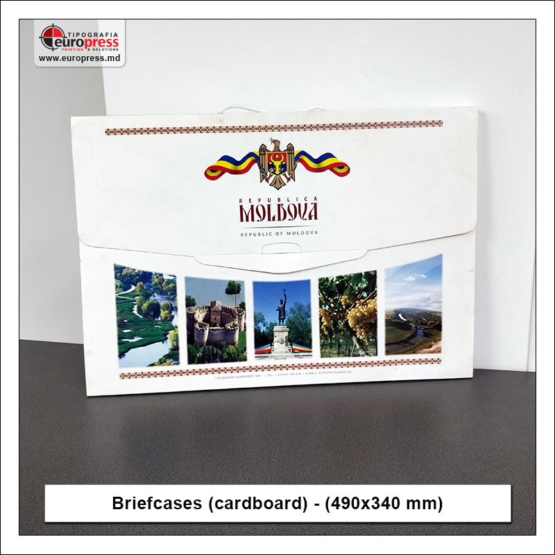 Briefcases cardboard 490x340 mm - Variety of Briefcases Cardboard - Europress Printing House