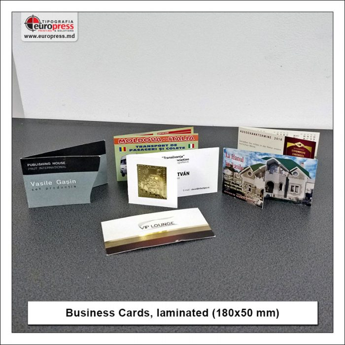 Business Cards laminated 180x50 mm - Variety of Business Cards - Europress Printing House