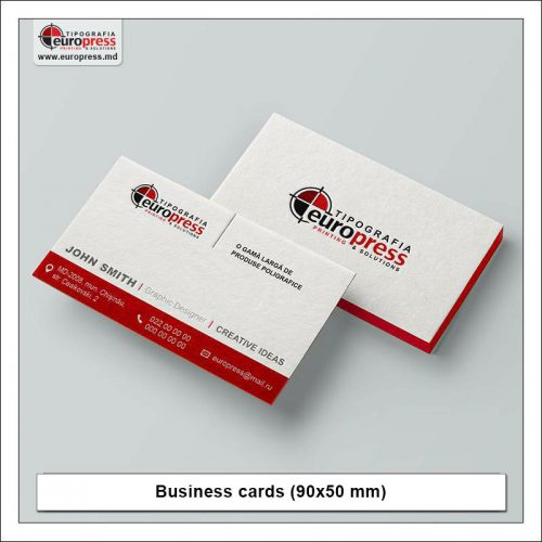 Business cards 90x50 mm - Variety of Business Cards - Europress Printing House