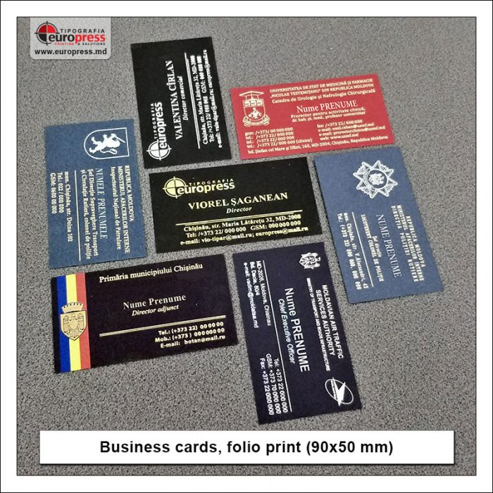 Business cards folio print 90x50 mm - Variety of Business Cards - Europress Printing House
