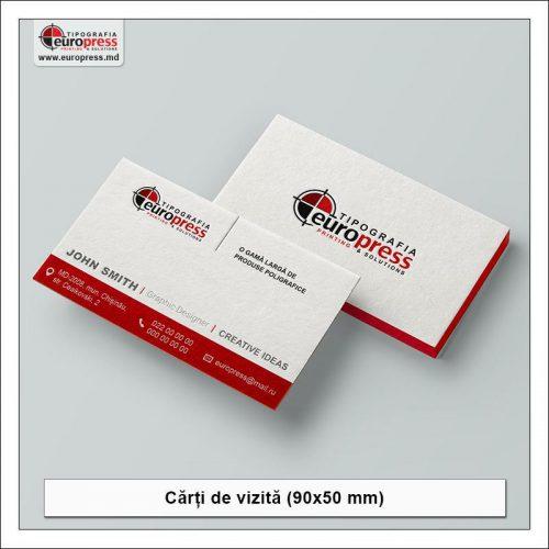Carte de vizita 90x50 mm noua - Varietate Carti de Vizita - Tipografia Europress