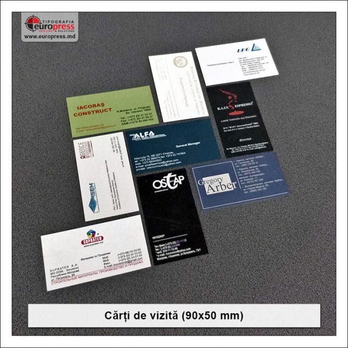 Carti de vizita 90x50 mm - Varietate Carti de Vizita - Tipografia Europress