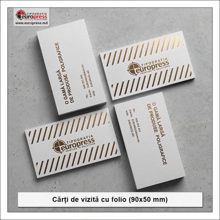 Carti de vizita folio stil 1 - Varietate Carti de Vizita - Tipografia Europress
