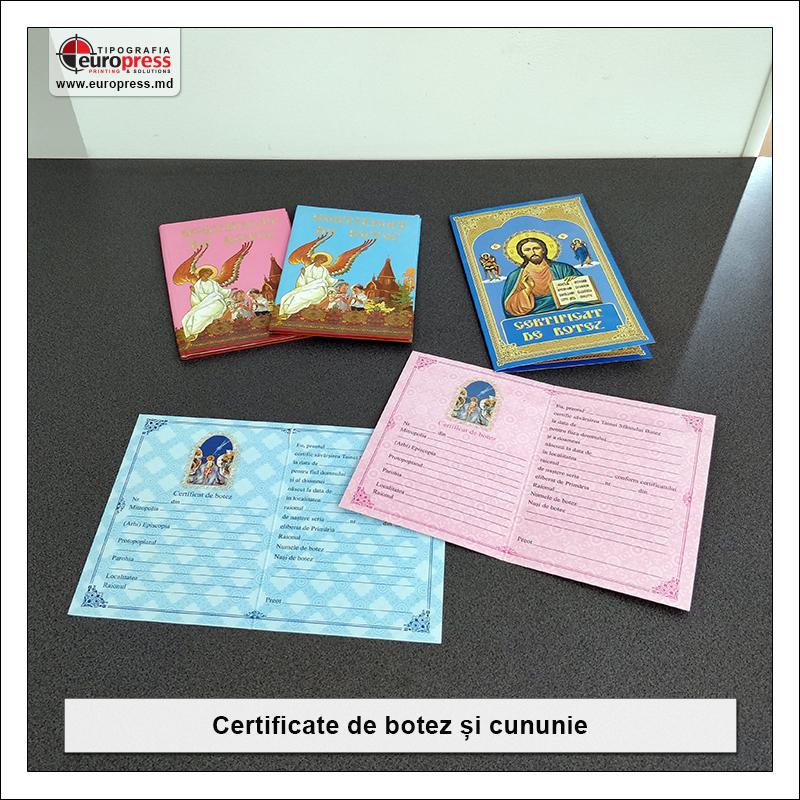 Certificate de botez si cununie - Varietate Articole Bisericesti - Tipografia Europress