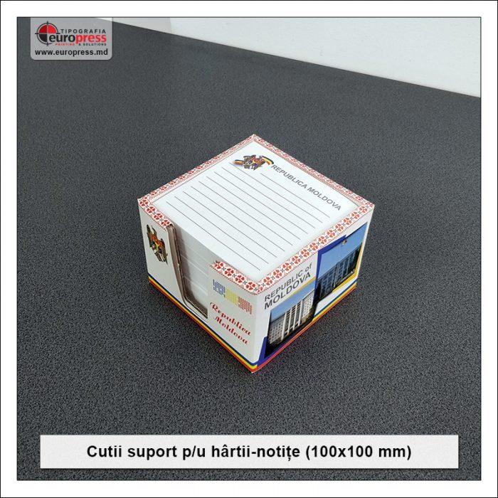 Cutie suport pentru hartii notite 100x100 mm - Varietate Cutii Suport Pentru Hartii Notite - Tipografia Europress