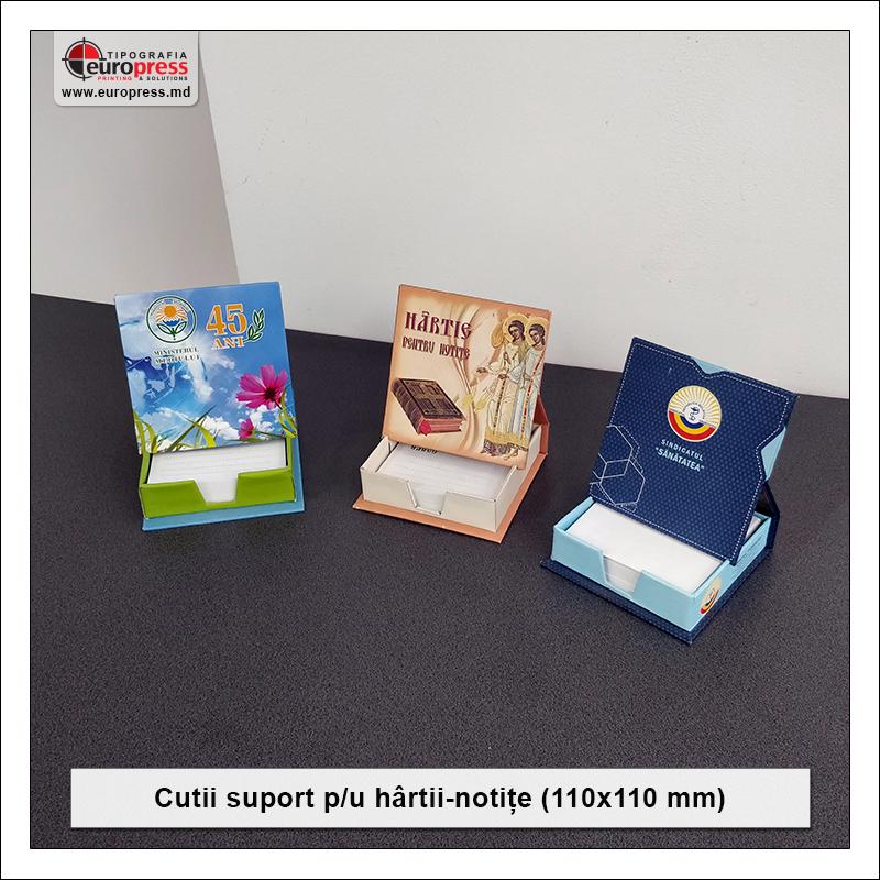 Cutie suport pentru hartii notite 110x110 mm - Varietate Cutii Suport Pentru Hartii Notite - Tipografia Europress