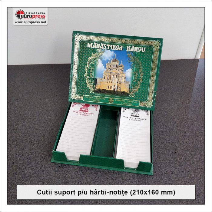 Cutie suport pentru hartii notite 210x160 mm - Varietate Cutii Suport Pentru Hartii Notite - Tipografia Europress