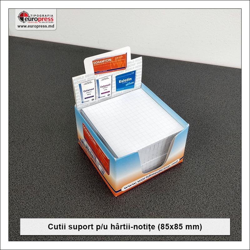 Cutie suport pentru hartii notite 85x85 mm - Varietate Cutii Suport Pentru Hartii Notite - Tipografia Europress