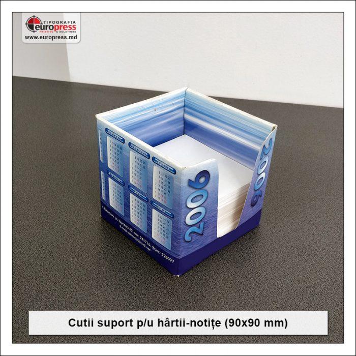 Cutie suport pentru hartii notite 90x90 mm - Varietate Cutii Suport Pentru Hartii Notite - Tipografia Europress