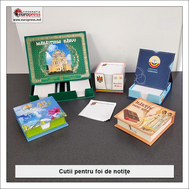 Cutii pentru foi de notite - Varietate Rechizite de Birou - Tipografia Europress