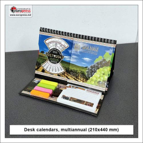 Desk calendars multiannual 210x440 mm - Variety of Desk Calendars - Europress Printing House
