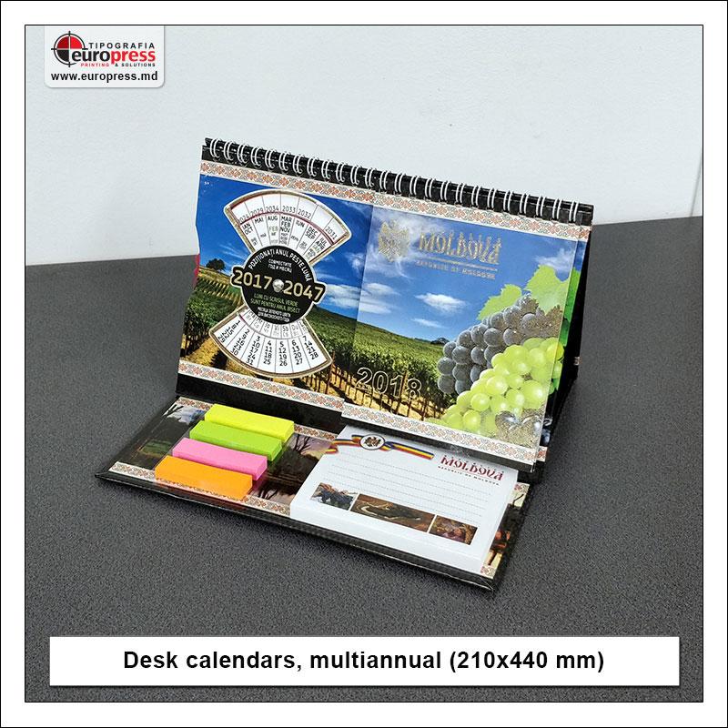 Desk calendars multiannual 210x440 mm - Variety of Desk Calendars - Europress Printing House