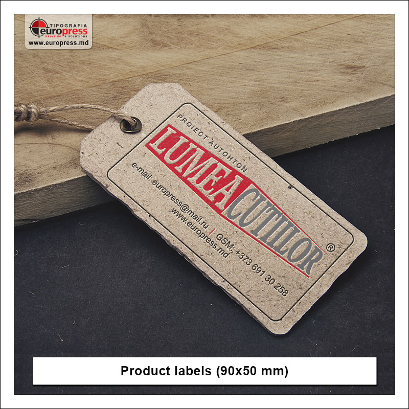Product label 2 - Variety of Labels for products - EuroPress Printing House