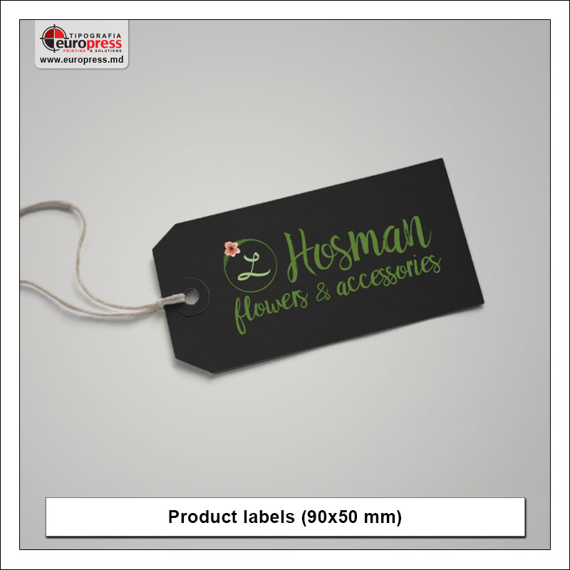 Product label 6 - Variety of Labels for products - EuroPress Printing House