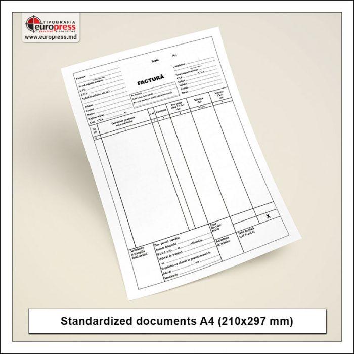 Standardized documents A4 - Variety of Standardized documents - Europress Printing House