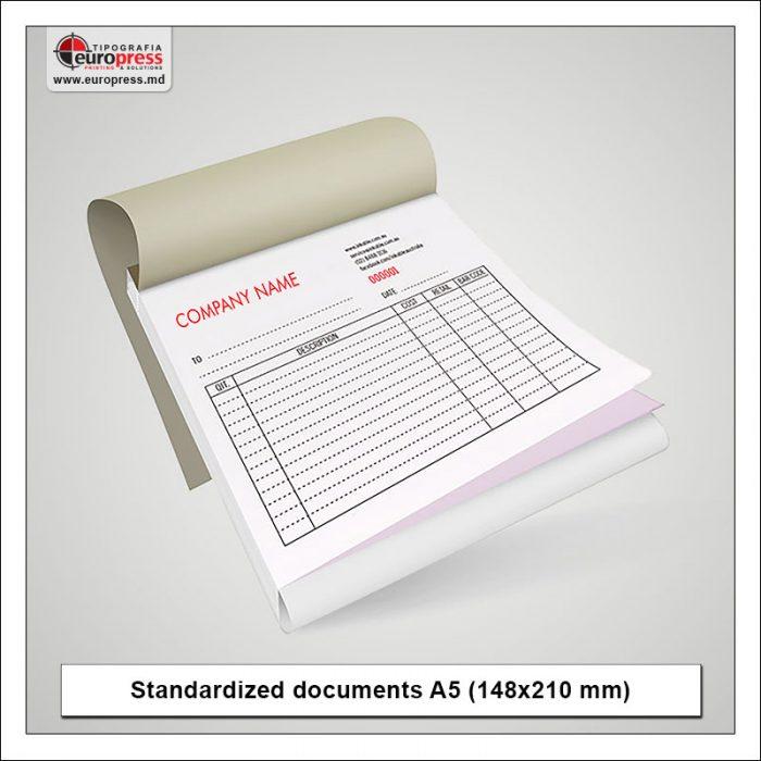 Standardized documents A5 - Variety of Standardized documents - Europress Printing House
