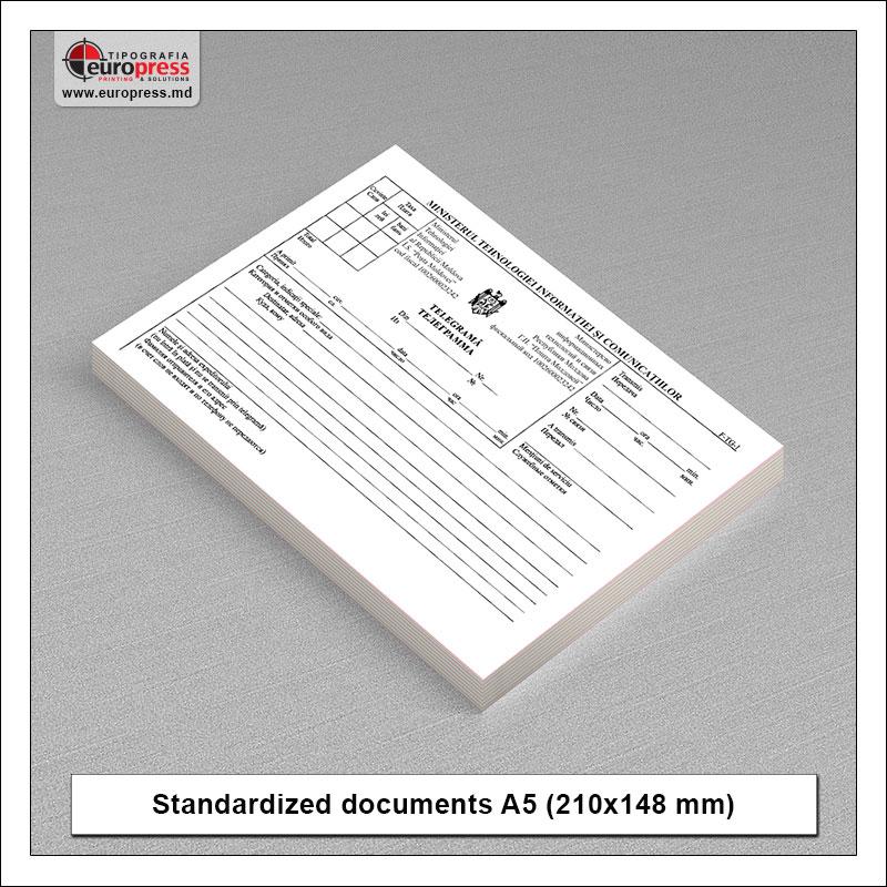 Standardized documents A5 horizontal - Variety of Standardized documents - Europress Printing House