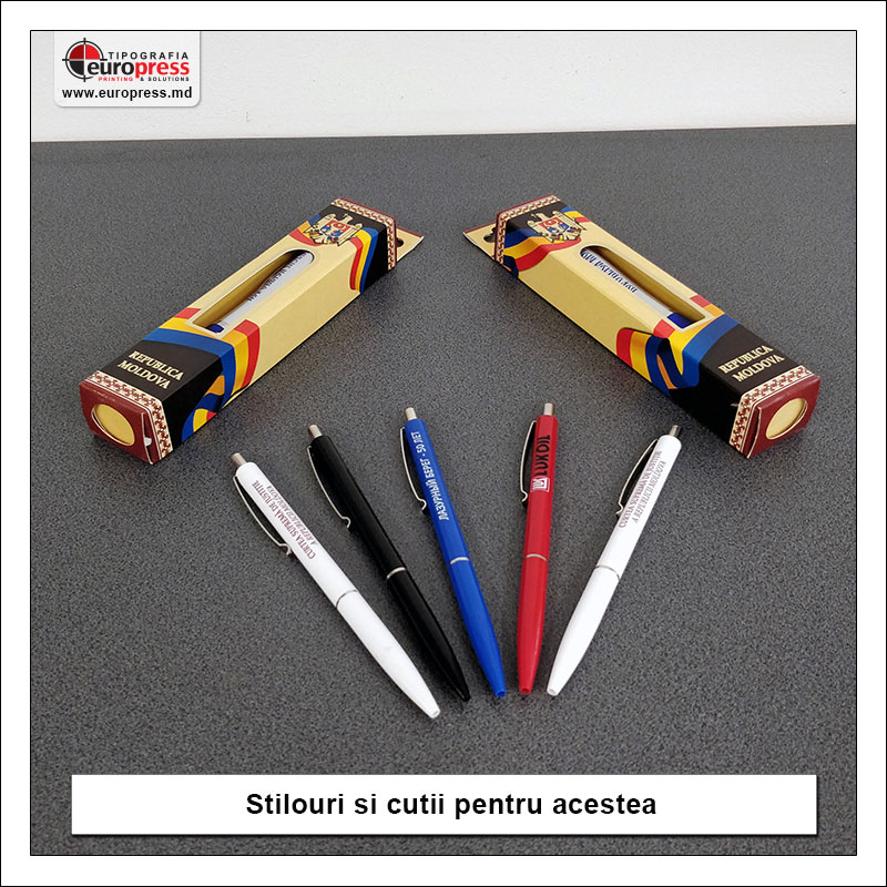 Stilouri si cutii pentru stilouri - Varietate Rechizite de Birou - Tipografia Europress