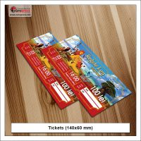Tickets 140x60 mm - Variety of Tickets - Europress Printing House