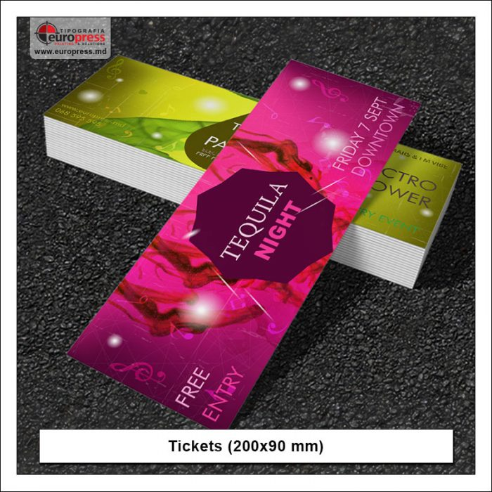 Tickets 200x90 mm - Variety of Tickets - Europress Printing House