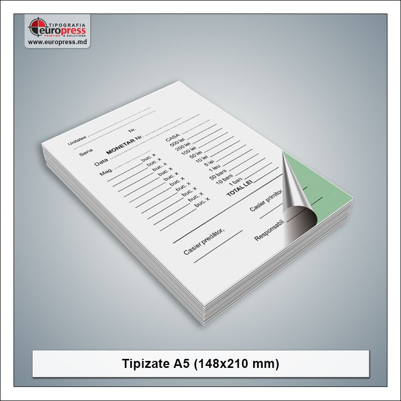 Tipizate A5 model 2 - Varietate produse tipizate - Tipografia Europress