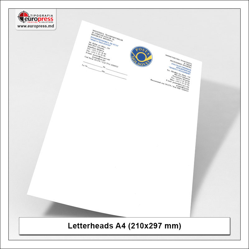 Letterheads A4 210x297 mm 2 - Variety of Letterheads - Europress Printing House