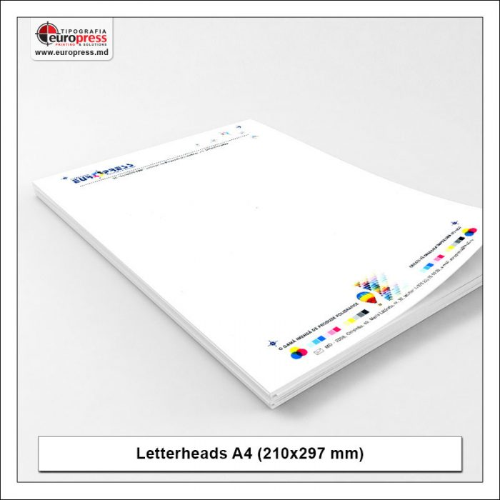 Letterheads A4 210x297 mm 3 - Variety of Letterheads - Europress Printing House