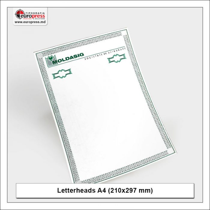 Letterheads A4 210x297 mm 5 - Variety of Letterheads - Europress Printing House